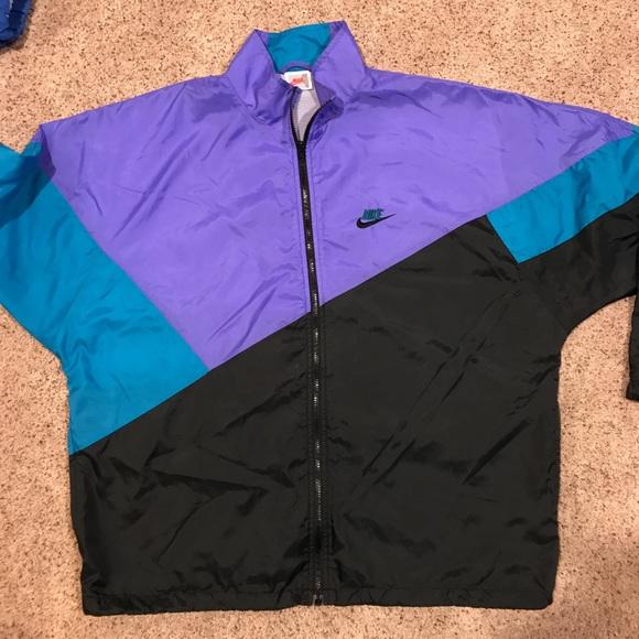 b40f786ef619c Vintage Nike Windbreaker Purple Blue Black 90s